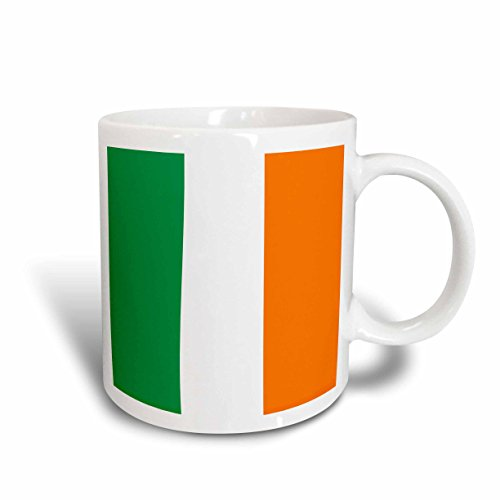 3dRose mug_158340_2 Flag of Ireland Irish Green White Orange Vertical Stripes United Kingdom UK World Country Souvenir Ceramic Mug, 15-Ounce