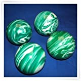 Premium Quality EPCO 4 Ball 107mm Tournament Bocce Set - Marbled Green/White [Toy]