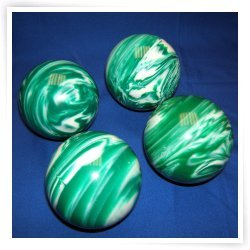 Premium Quality EPCO 4 Ball 107mm Tournament Bocce Set - Marbled Green/White [Toy] by Epco