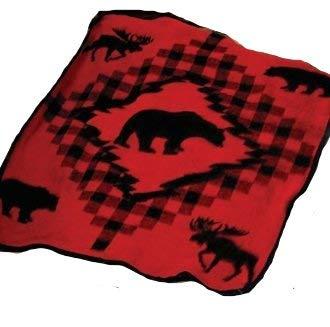 Earth Ragz Coles Creek Acrylic Throw Blankets Lcoleckth Moose & Bear Plush Fleece Throw Blanket 50 X 60 X 0.25 Inches Multicolored