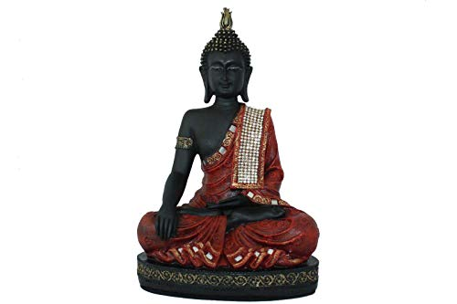red resin buddha - 2