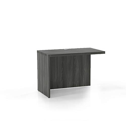 "Mayline AR4224LGS Aberdeen Return 42""W x 24""D for use with Credenza, Desk or Extended Corner Desk, sold separately, Gray Steel Tf"