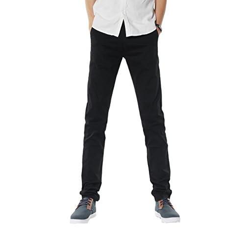 Top Demon hunter Men's Slim-Fit Chino Trousers Black S9Y01 supplier