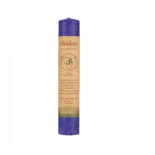 Aloha Bay Chakra Pillar Abundance Candle, Indigo (Indian Pillar Candle)
