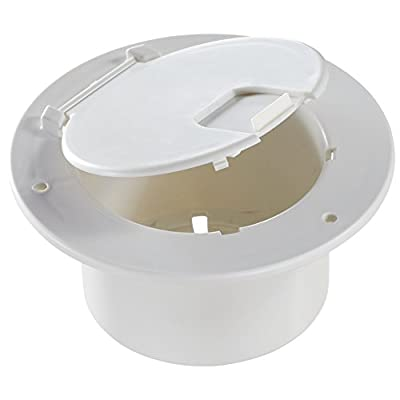 RV Designer B110, Round Electrical Cable Hatch, Deluxe, Replaceable Lid, 5.2 inch Diameter, Polar White: Automotive