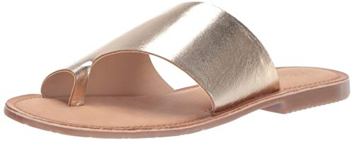 Chinese Laundry Women's Gemmy Flat Sandal, Gold Metallic, 9 M US