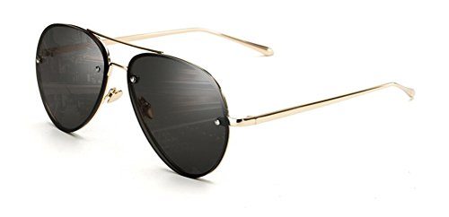 GAMT Vintage Clear Aviator Sunglasses,Mirrored Lens Designer Women Sunglasses Grey