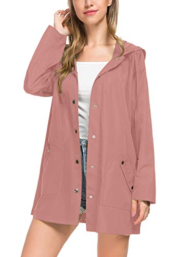 BBX Lephsnt Raincoats Waterproof Lightweight Rain Jacket Active Outdoor Hooded Women's Coats Size S - Raincoat Pink Hooded