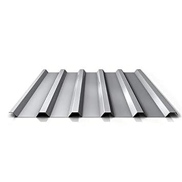 Farbe Wei/ßaluminium Dachblech Profil PS20//1100TRA St/ärke 0,50 mm Material Stahl Trapezblech Beschichtung 25 /µm Profilblech