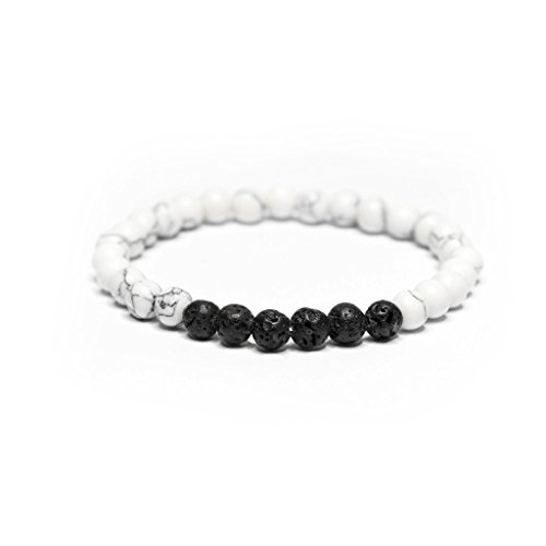Vitality Extracts - Serenity 6mm Diffuser Bracelet - White Howlite, stress relief, meditation, sleep aid, yoga, aromatherapy