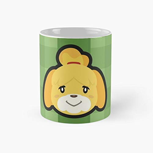 ISABELLE ANIMAL CROSSING Mug, shizue Funny Mugs, 11 Ounce Ceramic Mug, Perfect Novelty Gift Mug, Tea Cups, Funny Coffee Mug 11oz, Tea -