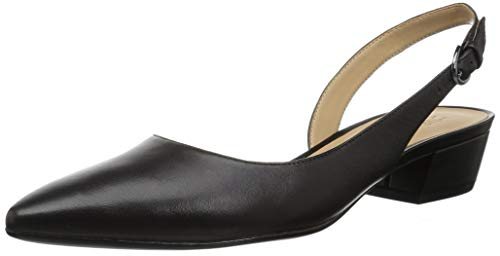 Naturalizer Women's Banks Pump, Black Leather, 7.5 M US