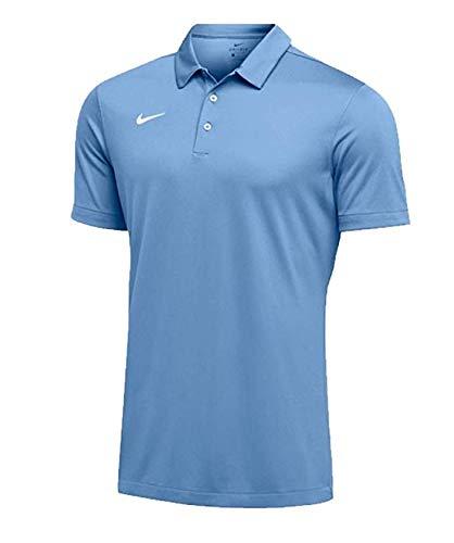 Nike Mens Dri-FIT Short Sleeve Polo Shirt (Medium, Sky Blue)