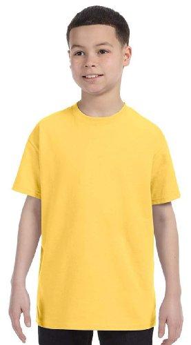Jerzees Youth 5.6 oz., 50/50 Heavyweight Blend T-Shirt (29B)- ISLAND YELLOW,XS (Jerzees Blend Youth Heavyweight)