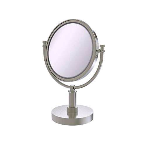 Allied Brass DM-4/5X-SN 8-Inch Table Mirror with 3x Magnification, 15-Inch, Satin Nickel