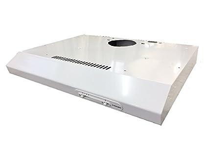 Dunstabzugshaube küche unterbauleuchte weiß tilly 60 cm mit tuch