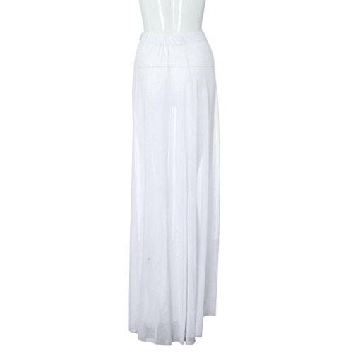 Falda de verano, RETUROM Las mujeres cubren la playa de bikini sarong Wrap falda pareo blanco