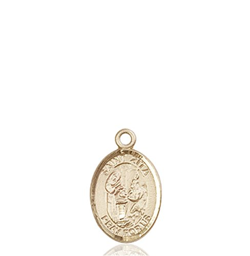 Sterling Small Servers (VERY SMALL CHILDRENS JEWELRY / 14kt Gold St. Zita Medal / Chain NOT Included / Servers/Waiters)