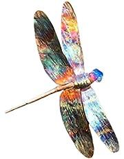 Yusea Kleurrijk metalen dragonfly ornament Creative Wandhanging Crafts Statue voor Tuin Courtyard Gazondecoratie