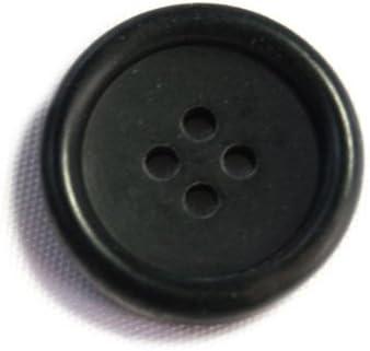 水牛ボタン770シリーズ(COLOR.5ツヤ無しブラック) 15mm紳士服スーツジャケットの袖口・袖ボタンに