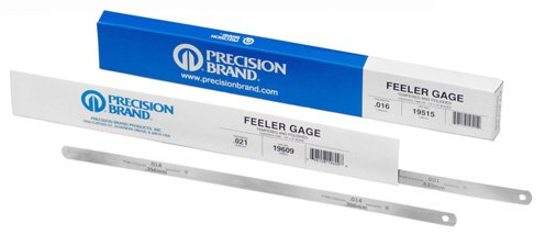 Precision Brand 19185/19K2X - Thickness & Feeler Gauge - Individual Gauge, 12 in Blade Length, 1 Blades
