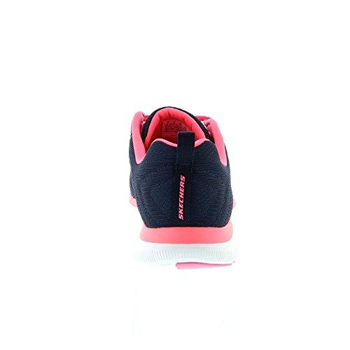 Skechers Sport Women's Flex Appeal 2.0 Fashion Sneaker, Navy/Hot Pink, 10 M US by Skechers Sport Women's (Image #4)