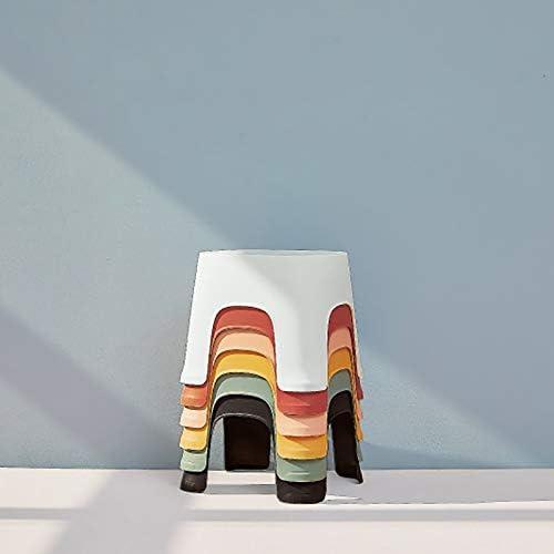 PQZATX Small Banc Antid/érapant Table Basse en Plastique Simple Tabouret Adult /épaississement Tabouret pour Enfants pour Chaussures Court Tabouret Vert