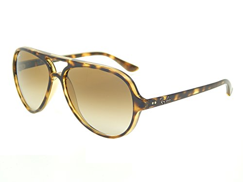 Ray Ban Cats 5000 RB4125 710/51 Tortoise/ Crystal Brown Gradient 59mm - Aviators Ban Ray Tortoise