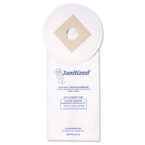 Janitized Filters - ProTeam LineVacer Micron Filter Janitized Plus Vacuum Cleaner Bags / 1 Case Lot100 Individual Bags - OEM #: 100291***Includes