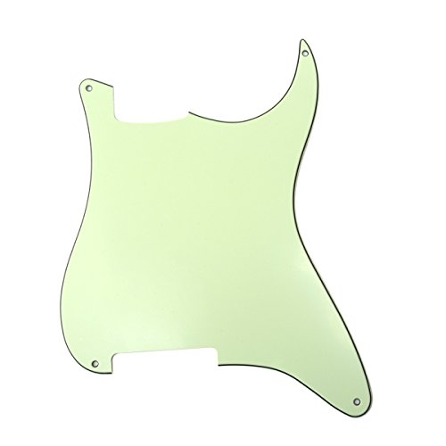 Musiclily 4 Hole Blank Strat Pickguard Custom for Fender Stratocaster Style Guitar, 3Ply Mint Green