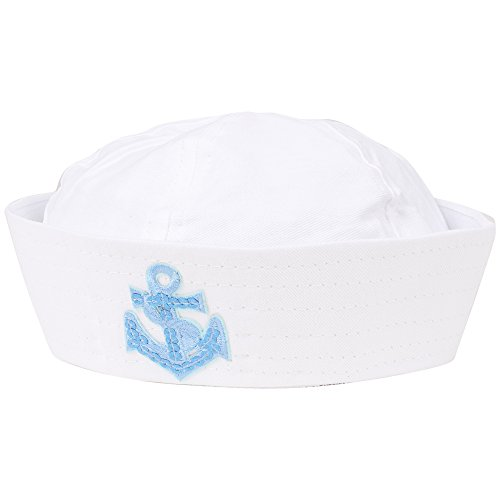 Wicked White Sailor Hat With Sequin -