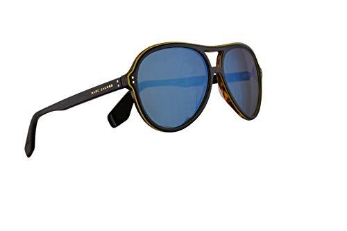 Marc Jacobs Marc 392/S Sunglasses Black w/Khaki Mirror Blue Lens 59mm 8073U Marc 392S Marc392S Marc392/s