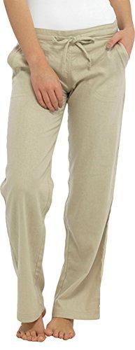 Taglia 10 Pantaloni 24 Lino Casual Tasca Insignia Con Nuovo Pietra Donne OzqRT0