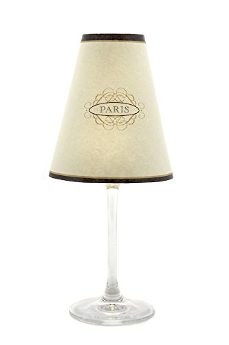 di Potter WS344 Paris Street Sign Paper White Wine Glass Shade, Parchment (Pack of - Shades Street