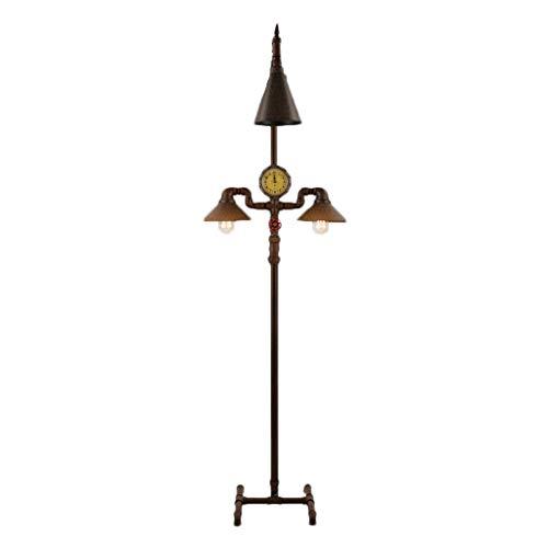 (ZH Floor Lamp Loft Retro Industrial Style Nostalgic Iron Three Living Room Bedroom Study Water Pipe Floor Lamp)