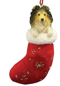 Shetland Sheepdog Christmas Ornament (Christmas Ornament: Shetland Sheepdog)