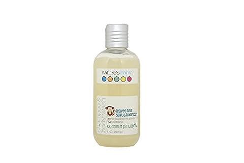 Nature's Baby Organics Shampoo & Body Wash, Coconut Pineapple, 8 oz | Babies, Kids, & Adults! Natural, Moisturizing, Soft, Gentle, Rich, Hypoallergenic | No Chemicals, Parabens, SLS, (Organics Coconut Conditioner)