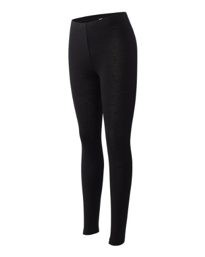 Joe's USA Dri-Equip Women's Cotton Spandex Legging-Black-2XL