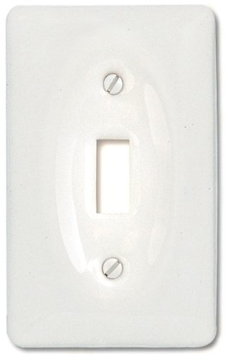 Amerelle 3020TW Classic Ceramic Toggle Wallplate, White by - Amerelle Ceramic
