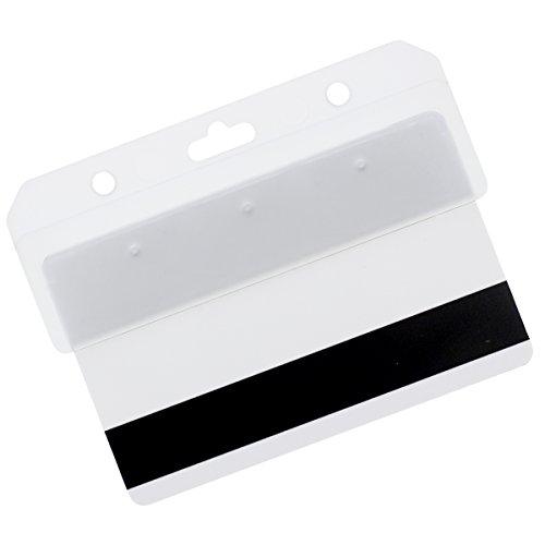 Half Card Holder - Frosted Rigid Plastic Horizontal Half Card Holder - For Swipe Cards by Specialist ID (1 Pack)