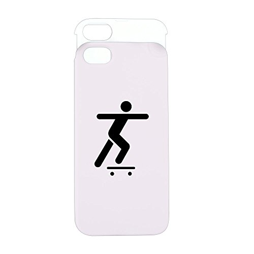 Price comparison product image iPhone 5 or 5S Wallet Case Pink and White Skateboard Skater Traffic Symbol