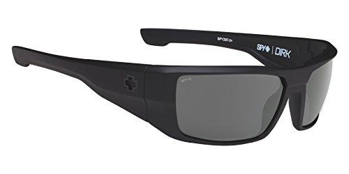 Spy Optic Dirk Wrap Sunglasses, Soft Matte Black/Happy Gray/Green, 64 - Jr Dale Sunglasses