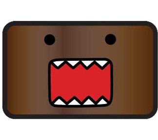 Domo Kun Japan Big Face Mascot Belt Buckle
