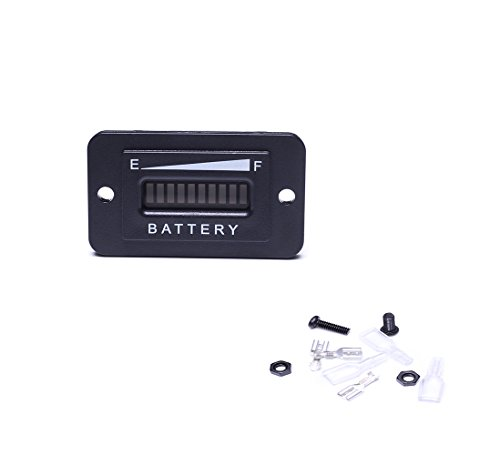 Auto-Parts-Eshop 48V LED Battery Indicator Meter Gauge Charge Discharge Testers for Motorcycle EZGO Club Car Yamaha Golf Cart Car Jet Ski by Auto-Parts-Eshop (Image #2)