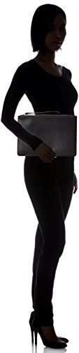 Top womens Pu Pebble Pu Black Armani Zip Nero Pouch Top Pebble Exchange Pouch Zip qFf55wI