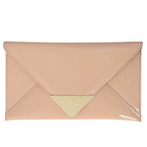 JNB Faux Patent Leather Glossy Envlope Clutch ()