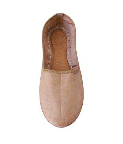 KALRA Creations Damen Traditionelle Handgemachte Leder indischen ethnischen Schuhe Camel