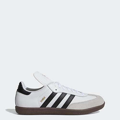 adidas Men's Samba Classic Running Shoe, white/black/white, 13 M US