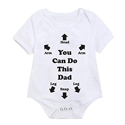 ZEFOTIM Unisex Baby Bodysuits, 2-Pack Organic Cotton Short & Long Sleeve One-Pieces(White,80)