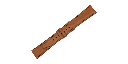[19mm London Tan Genuine English Bridle Leather Replacement Watch Strap Made in USA FBA98] (Bridle Tan Leather)